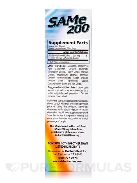 Sam E Liver Detox by Sam E 200 Mg 60 Tablets