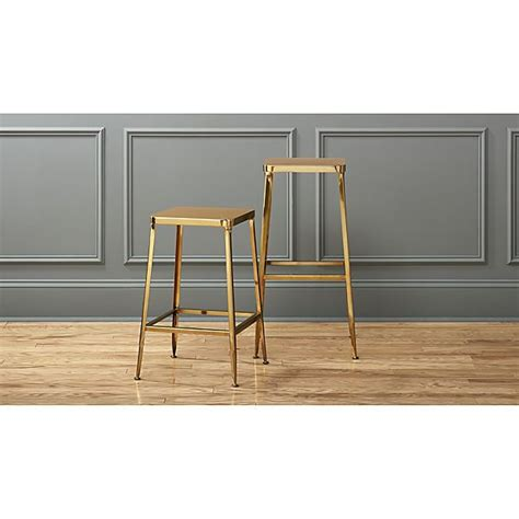 Flint Bar And Stool by Flint Gold Bar Stools Cb2 Furniture Gold