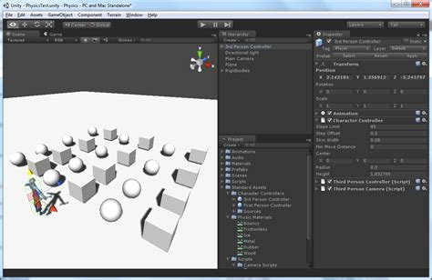 unity tutorial step by step physics in unity 3 53d game engine programming