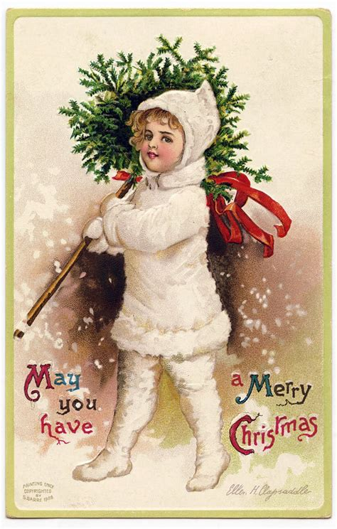 vintage christmas vintage christmas graphic snow girl with topiary the