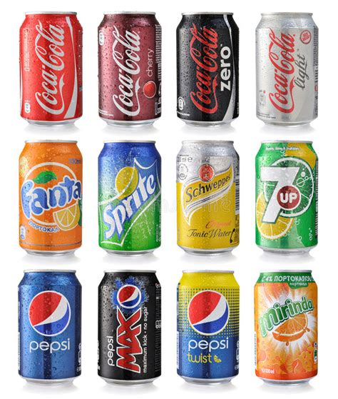 Silky Drink set of soda cans editorial photo image of dieting 43232576