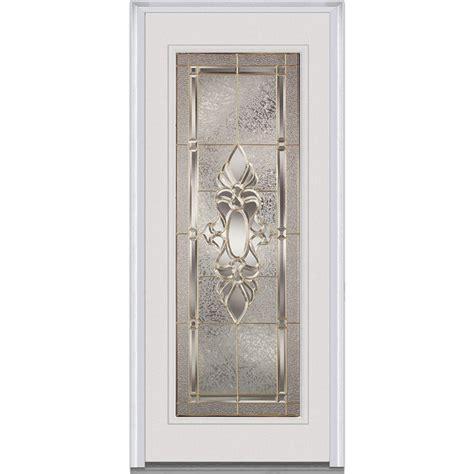 Home Depot Front Doors With Glass Jeld Wen 32 In X 80 In 9 Lite Primed Fiberglass Prehung Front Door With Brickmould F63042