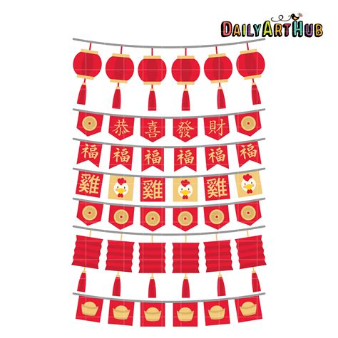 new year clip set new year bunting clip set daily hub