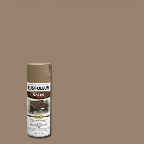 rust oleum stops rust 12 oz protective enamel satin taupe spray paint 241238 the home depot