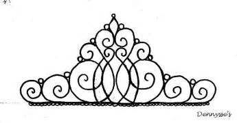Princess Tiara Template Sketch Coloring Page sketch template