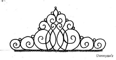 printable black and white crown princess tiara template clipart best