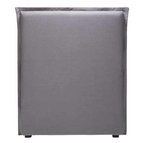 fodera testata letto fodera di testata da letto 90 cm in lino grigio morphee