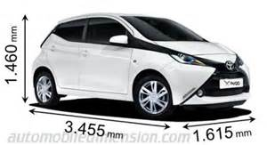 Toyota Aygo Length Dimensions Of Toyota Cars Showing Length Width And Height