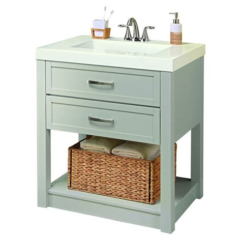 Lowes Vanity With Top by Style Selections Annabeth 30 In Vanity With White Cultured