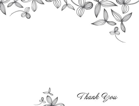 single thank you card blank template thank you card template black and white larissanaestrada