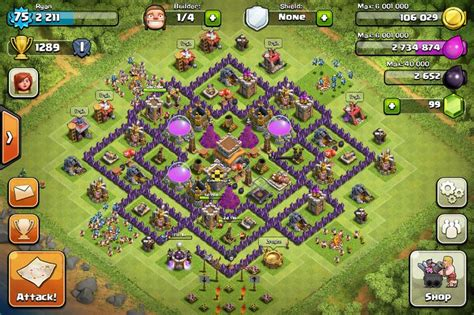coc war base th8 hd clash of clans th8 trophy base now this is my very own