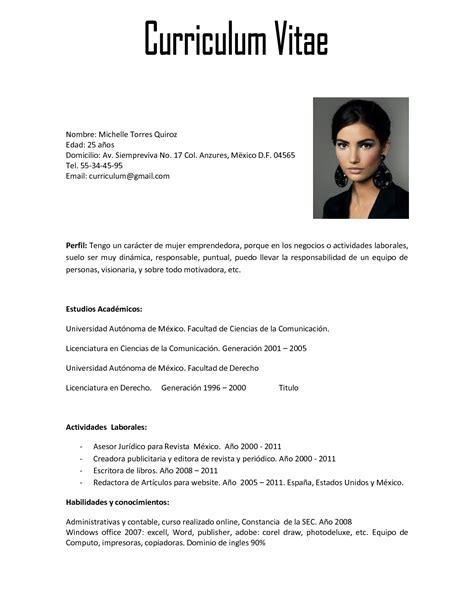 Modelo De Curriculum Vitae Argentina 2016 Curr 205 Culo Primeiro Emprego 2018 Modelos Aqui