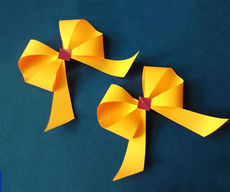 How To Make A Bow With Paper Ribbon - awesome and easy paper bow or ribbon for gift box deco
