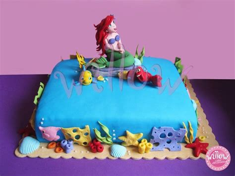 Ariel Cake Decorations by Mermaid Cake Cake Decorating