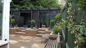 Pergola With Walls by Garden Design For Difficult Sloped Garden London London