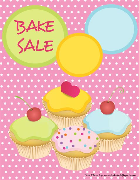 free bake sale flyer templates free printable bake sale flyer template foto