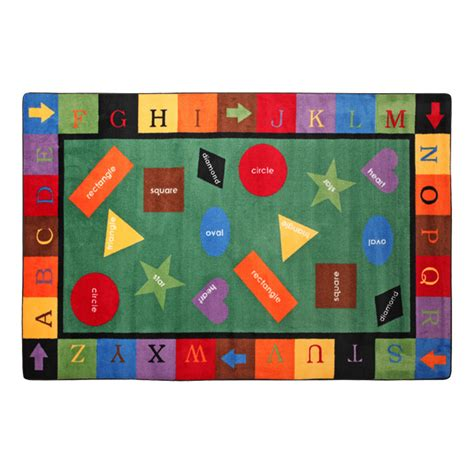 clearance classroom rugs flagship carpets simple shapes rug 7 6 quot w x 12 l at school outfitters