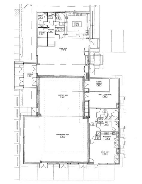 community center floor plan floor plan dolores community center