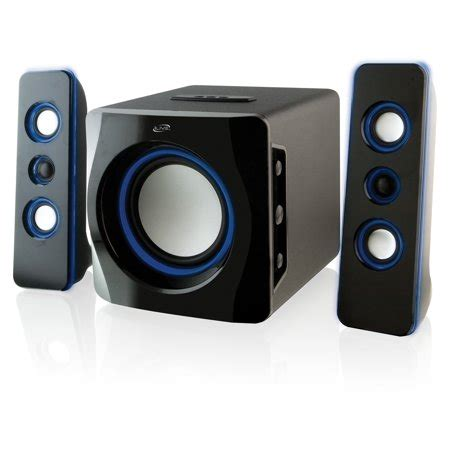 1 iphone 2 bluetooth speakers ilive ihb23b 2 1 ch wireless bluetooth speaker system for apple 174 ipod 174 iphone 174 and 174 black