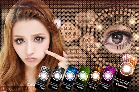 Soflens Eos Baby Choco pin geo berry holic olive green circle lenses on