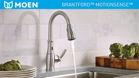 shop moen brantford with motionsense oil rubbed bronze moen brantford single handle pull down sprayer touchless