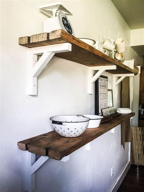 built reclaimed wood shelves deco diy reclaimed