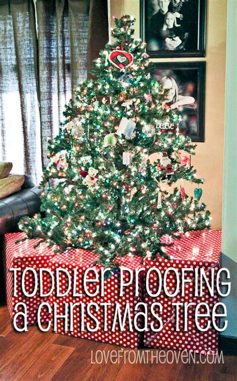 ideas for baby toddler pet proofing your christmas tree