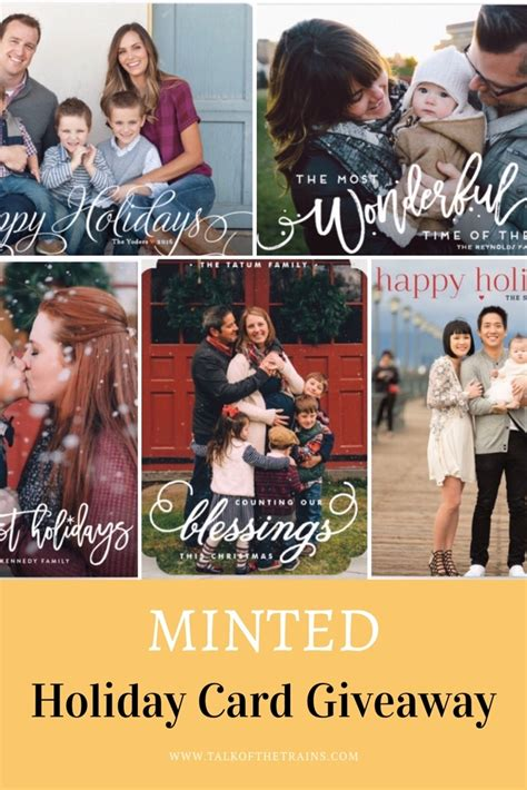 The Talk Giveaway - minted holiday cards giveaway talk of the trains