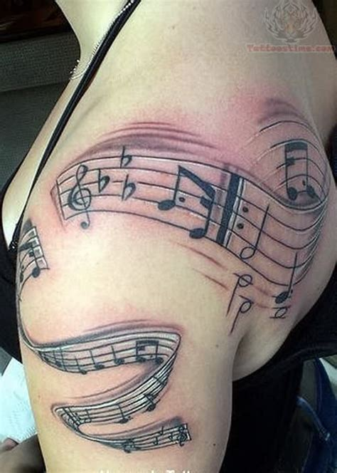 music note tattoo on shoulder piano tattoo images designs