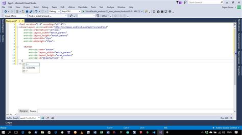xamarin layout axml visual studio 2017 intellisense not working for axml