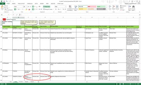 incident reporting template excel spreadsheet incident tracking spreadsheet buff