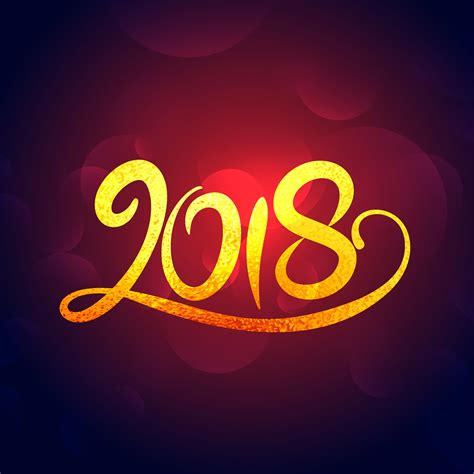 new year design 2018 2018 new year golden swirl text effet design