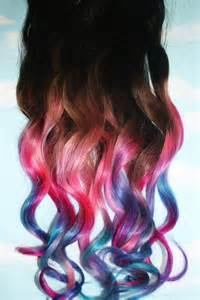 colored hair tips pastel tie dye tip extensions brown black 22 inches