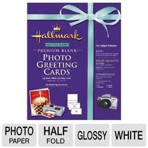 hallmark premium blank photo greeting cards half fold glossy at tigerdirect