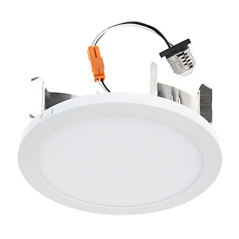 High Hat Light Fixture 7 Quot Slim Led Downlight For 4 Quot 5 Quot Or 6 Quot Cans Retrofit Led Recessed Lighting Kit 75 Watt