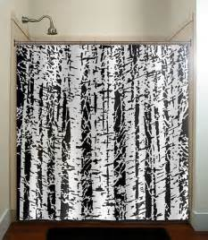 forest woodland white birch trees shower curtain by