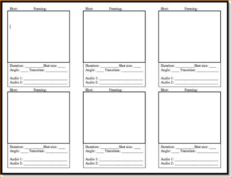 Template Free 5 free storyboard templates teknoswitch