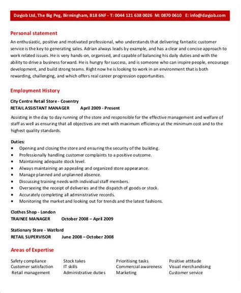 Assistant Business Manager Sle Resume by Free Manager Resume Templates 40 Free Word Pdf Documents Free Premium Templates