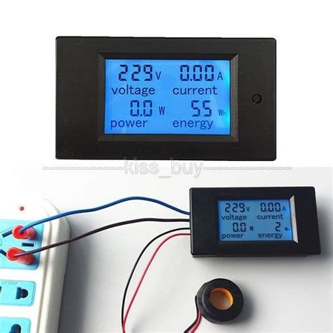 Watt Meter Ac 220 Volt 100a 4 Display Din Rel ac 100a power meters monitor volt kwh watt digital combo meter ac110v 220v voltmeter ammeter