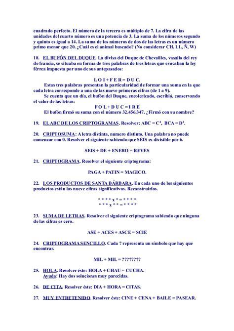 Problemas Razonados Para Cuarto Grado | problemas razonados de algebra