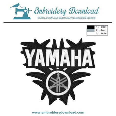 yamaha logo  embroidery design  instant
