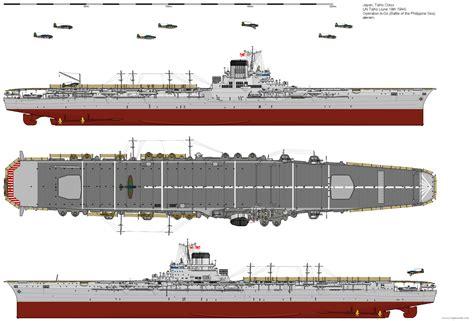 japanese catamaran aircraft carrier taiho class aircraft carrier 1944 by ijnfleetadmiral on