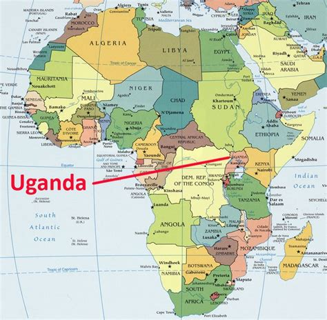 68 africa map africa map showing uganda known as the pearl of africa