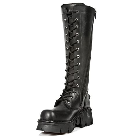 m 235 s1 new rock leather unisex knee length boot 26