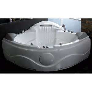 eago am505 rounded corner waterfall whirlpool bath tub
