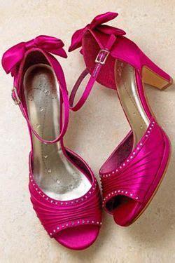 fuschia wedding shoes fuschia bridesmaid shoes
