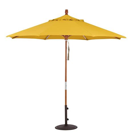 9 Ft Patio Umbrella Home Decorators Collection 9 Ft Wood Pulley Open Patio