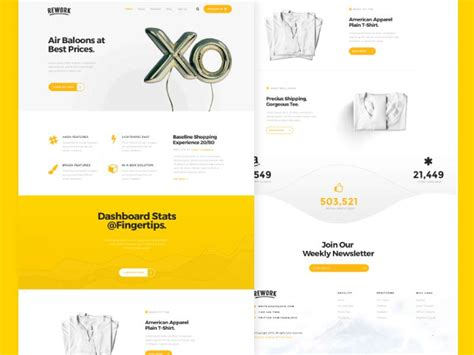 Rework Template by Rework Landing Page Template Designermill