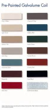 berridge color chart 4 best images of galvalume color chart berridge metal