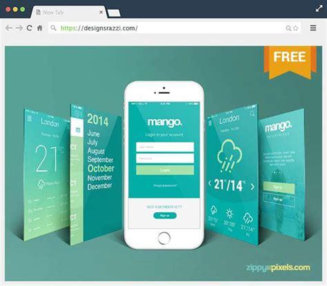 web design mockup app free iphone perspective app screen mockup on behance